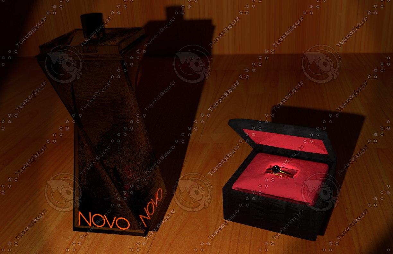 3dsmax perfume bottle wedding ring