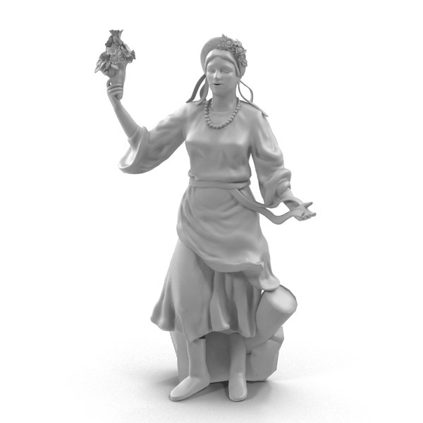3d statue ukraine model