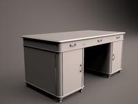 desk v-ray 3d model
