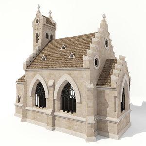 lutheran church kirche 01 3d max