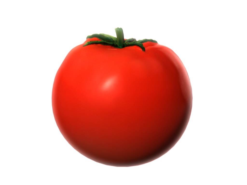 3dsmax realistic tomato