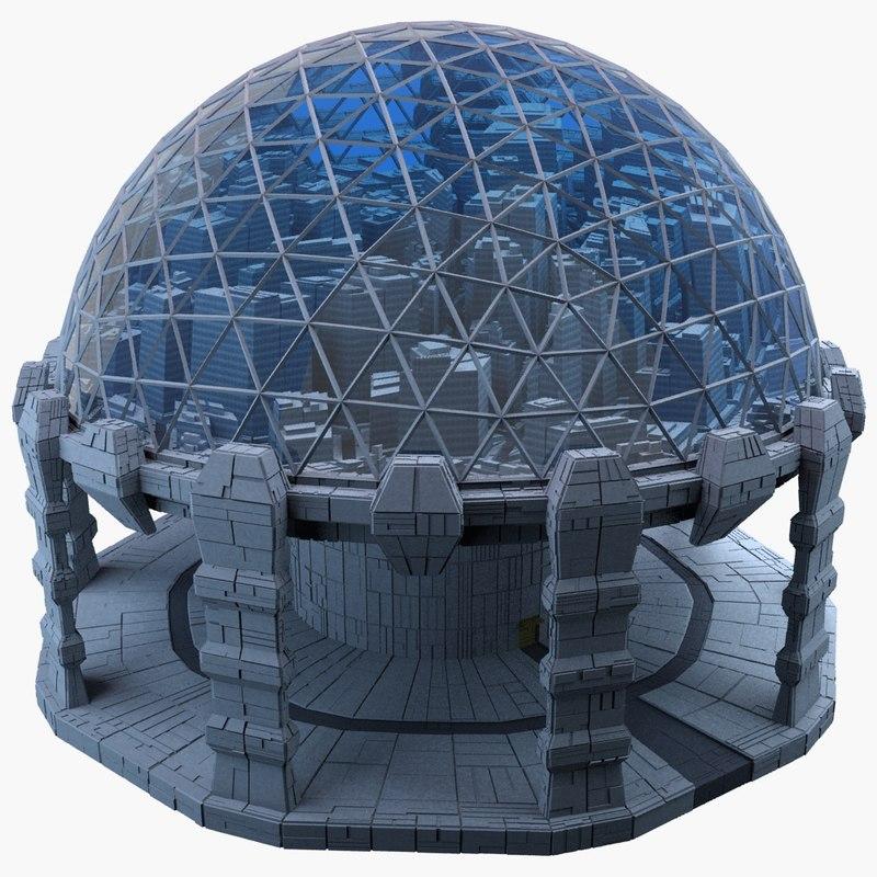 3d model dome city mht-05