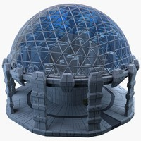 3d model dome city mht-05