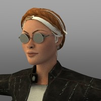 trendy woman 3d model