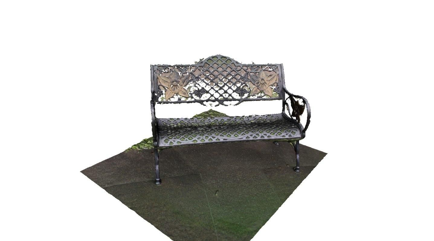 garden bench obj