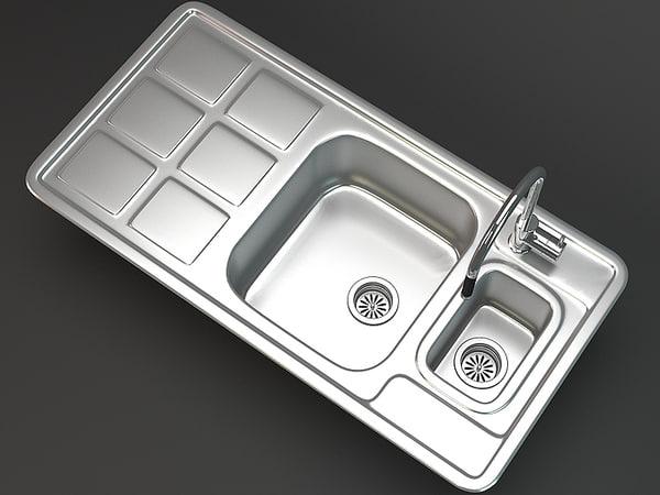 3d kitchen sink