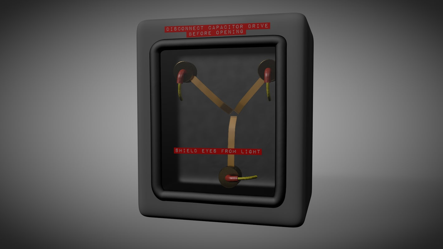 flux capacitor 3d model