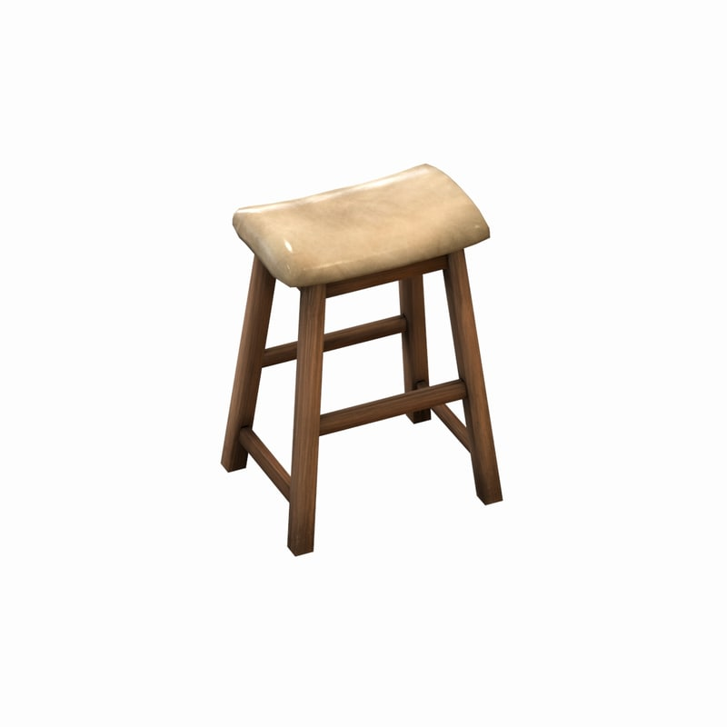 japanese chair 3d model