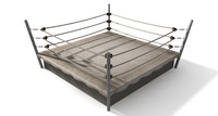 old vintage boxing ring 3d model