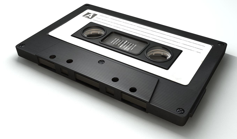 vintage cassette tape c4d