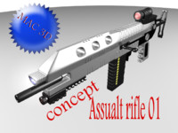 concept rifle 3d max