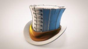 cylinder steampunk hat 3d c4d