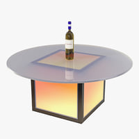 LED Illuminated Coffee Table 03