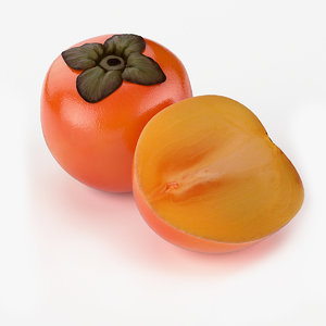3d obj realistic persimmon fruit real