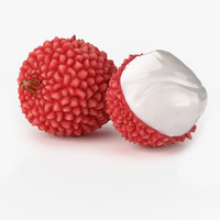 3d realistic lychee fruit real