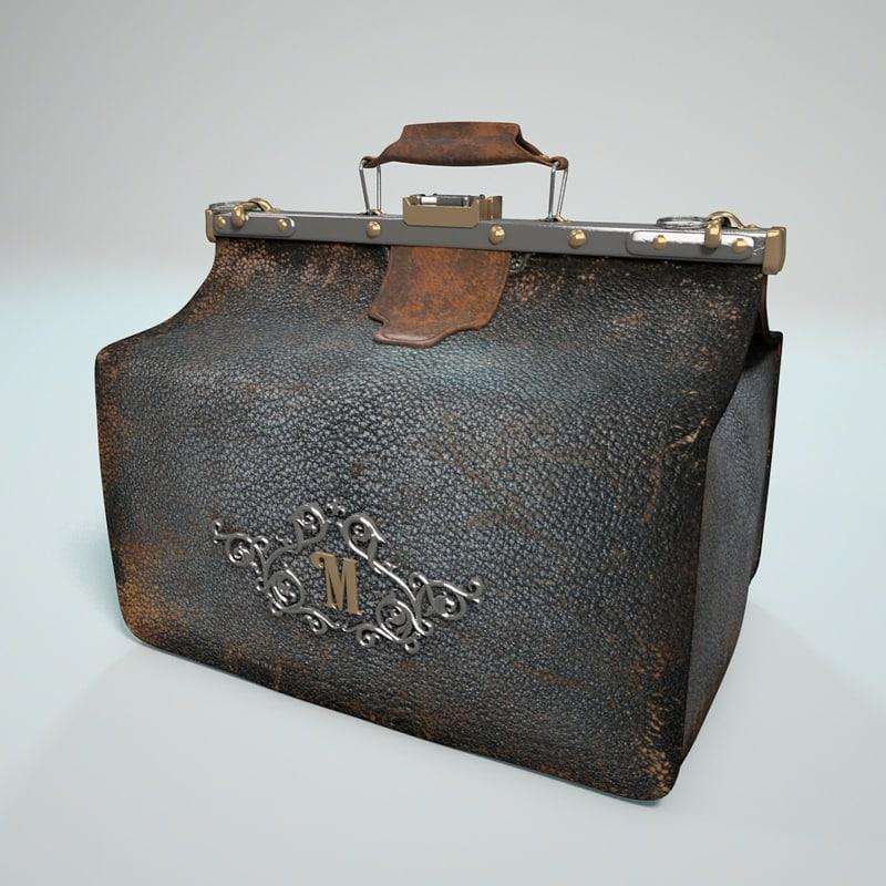 leather bag 3d c4d
