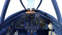 cockpit dewoitine d 520 3d max