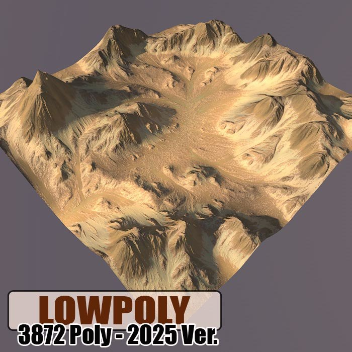 3d model of mountain games maps