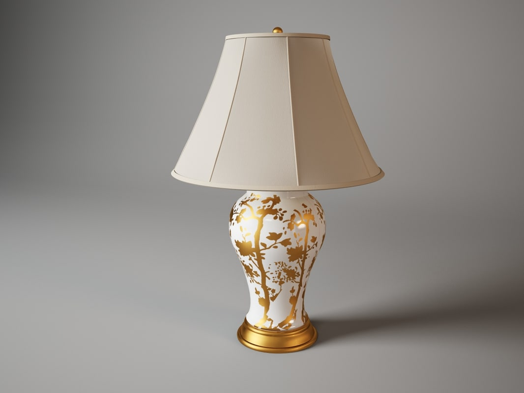 3d ralph lauren gable table lamp model