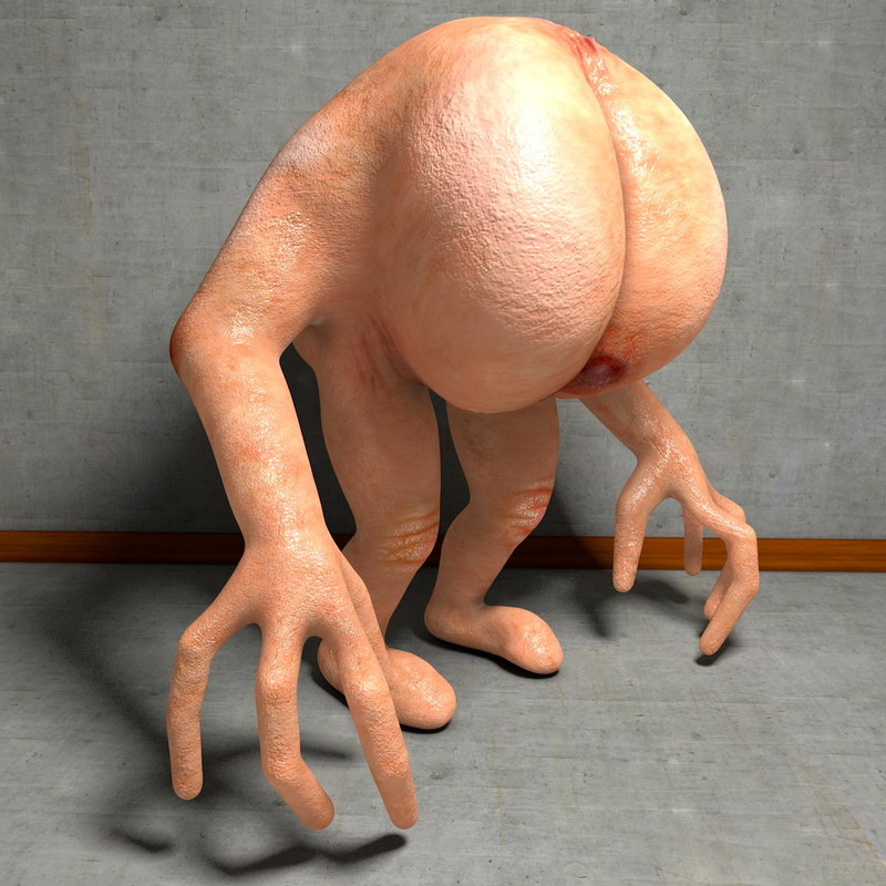 3d model walking butt