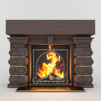 3d fireplace classic 01