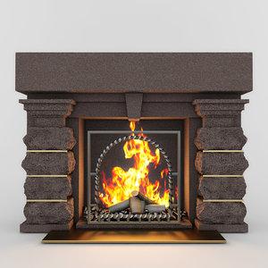 3d fireplace classic 01