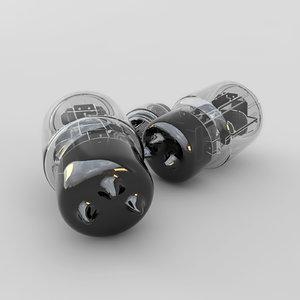 3d model of lamp amplifier 01