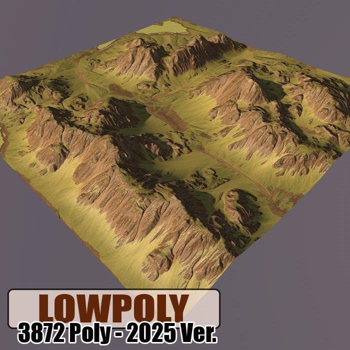 mountain games maps 3d model