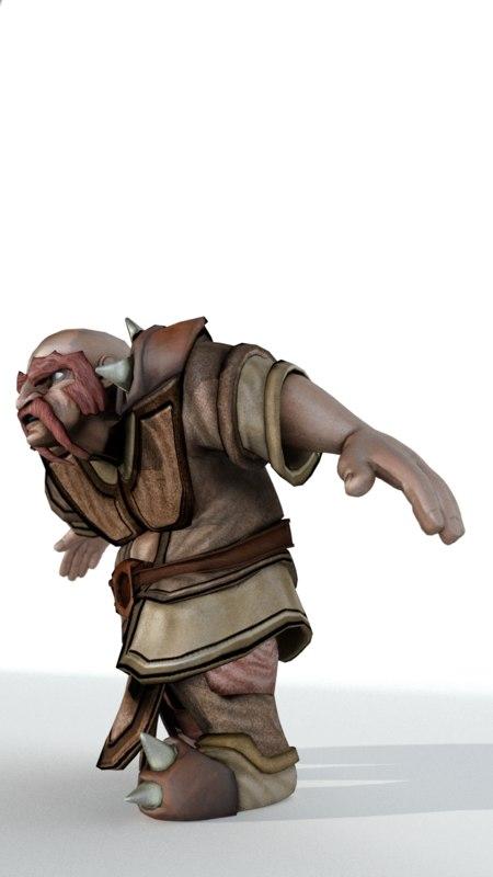 obj dwarf rigged