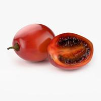 realistic tamarillo fruit real 3d model