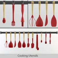 3d model utensils cook