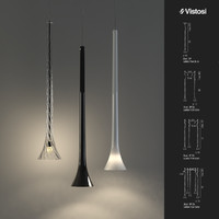 3d max vistosi pendant lights