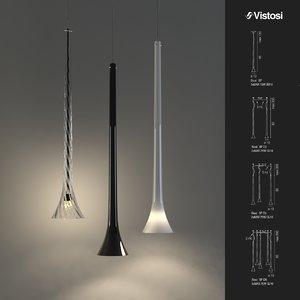 3d max vistosi pendant lights