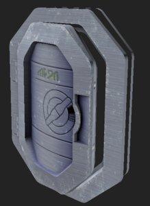 steel airlock 3d max