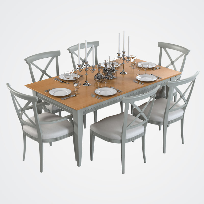 served dining table 3ds