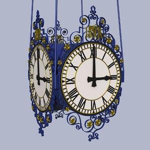 3ds victorian clock brighton railway station