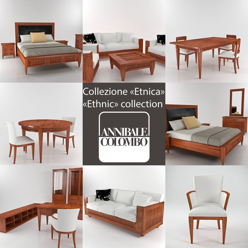 annibale colombo ethnic 3d model