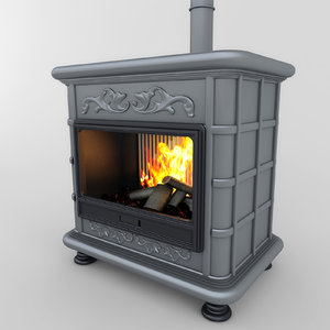 fireplace classic 02 3d max