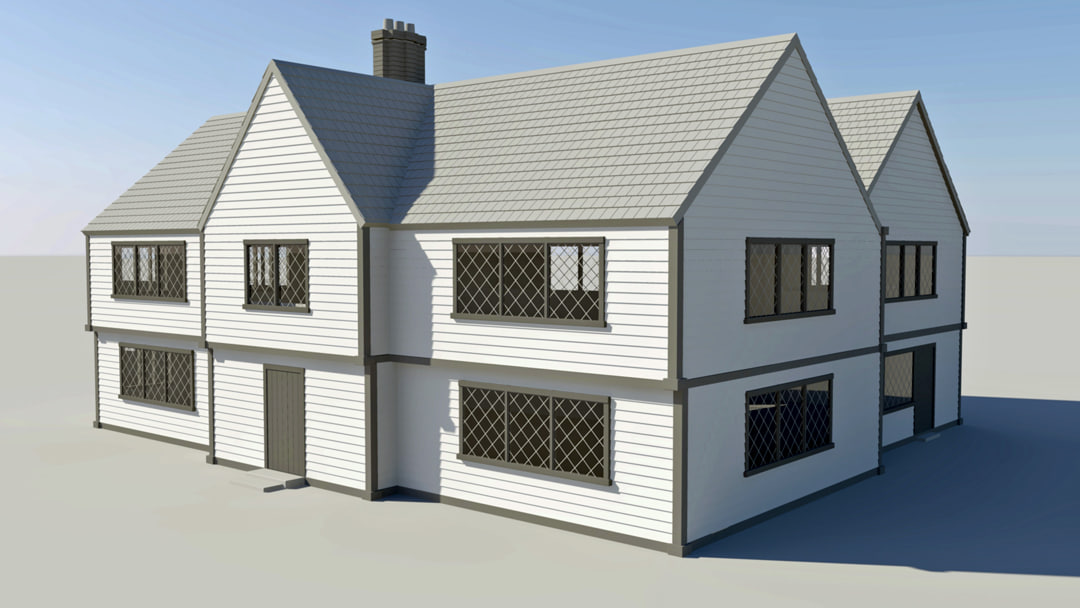 3d early house
