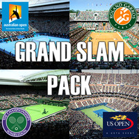 pack grand slam tennis 3d model
