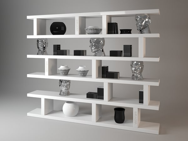 forma mentis bookshelf visionnaire 3d model