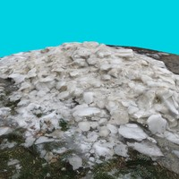 pile dirty snow 3d fbx