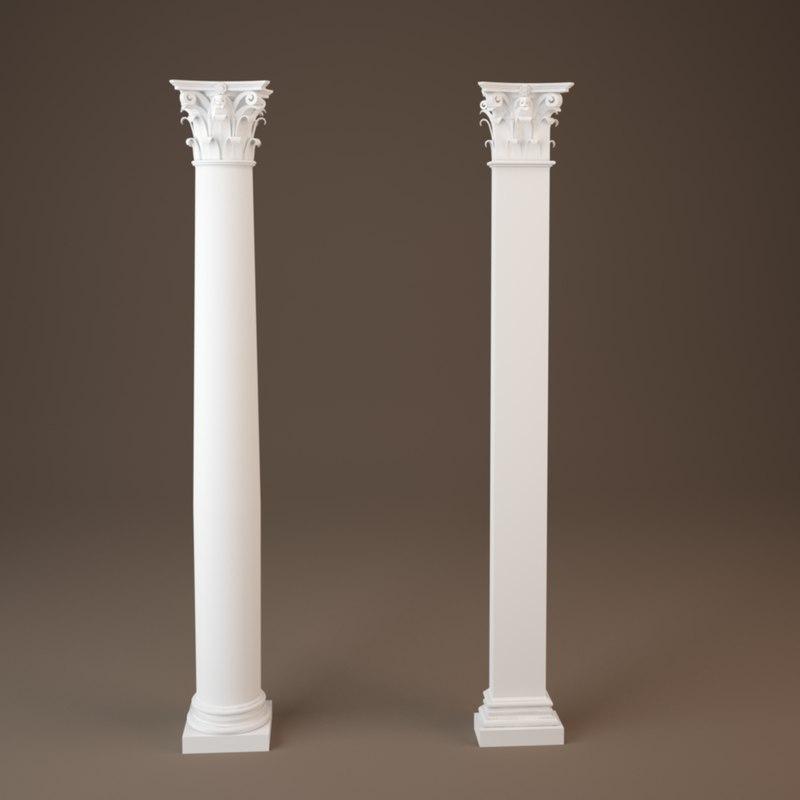 3ds max corinthian column colum