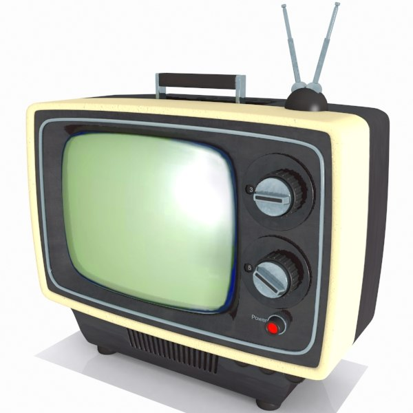 television vintage 3d model