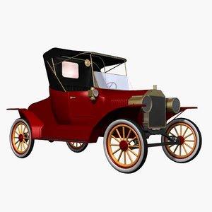 car antique 3d model