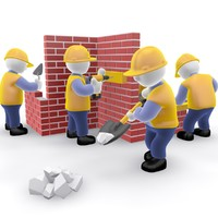 construction team cartoon 3d model