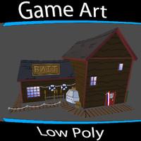 3d model building bait store