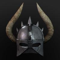 Barbarian Helmet Low Poly