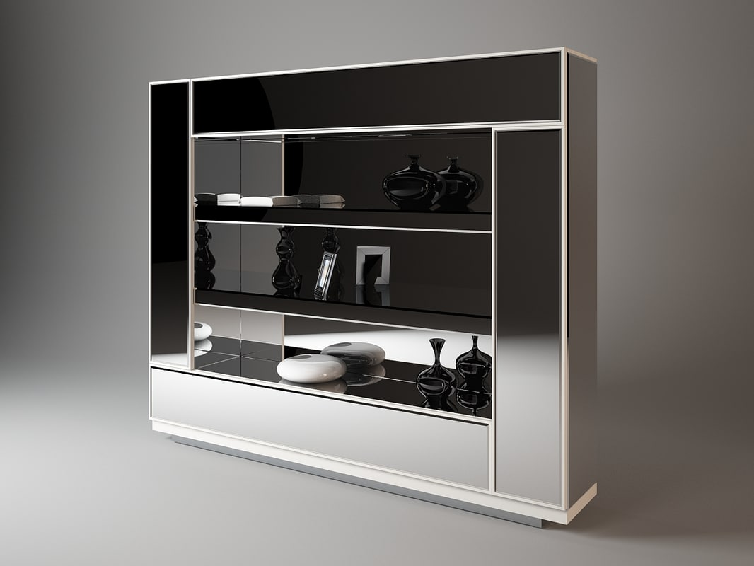 bookshelf visionnaire 3d dxf