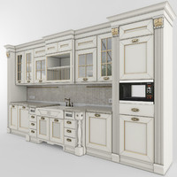 3d model kitchen aster opera 01